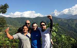 Mohamed Fayed and Friend from Egypt, USA and Dominica). Ghandruk sarangkot Trekking. 28 Oct 2016